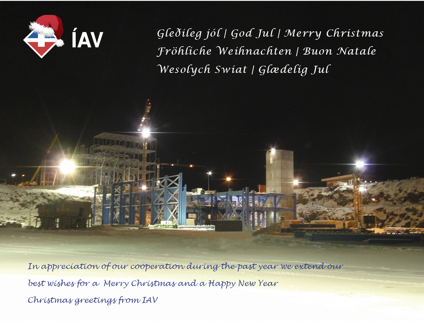Christmas greetings from IAV